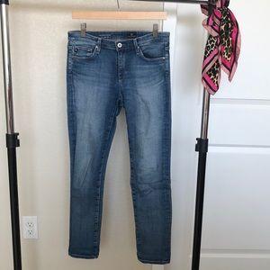 AG Stevie Slim Straight Ankle Blue Jeans
